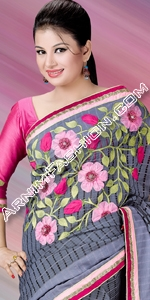 Saree For Style Half Silk Saree, Andy Silk, ND Silk, Endy Silk, Bangladeshi Andy Silk Saree, Bangladesh Saree, eshop, Bangladeshi eShop Saree, Dhakai Jamdani Saree, Eid Collection 2014, Saree, Sharee, Sari, Bangladeshi Saree