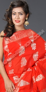 Red Half Silk Saree